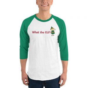 What the ELF Christmas raglan shirt