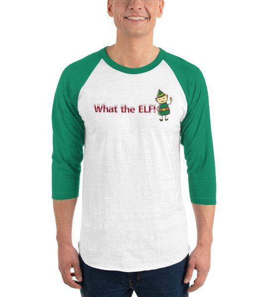 What the ELF Christmas raglan shirt