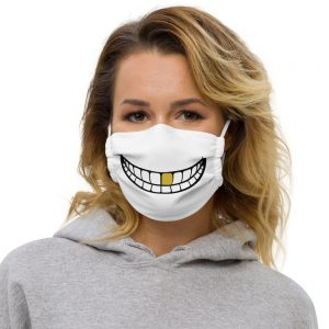 Reusable Gold Tooth Smile Face Mask