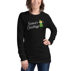Holiday Season's Greetings Christmas Long Sleeve Tee
