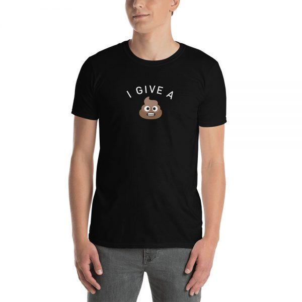Guy wearing I Give A Shit emoji Short-Sleeve T-Shirt