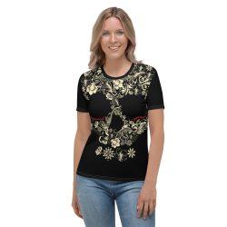 Flower skull design t-shirt