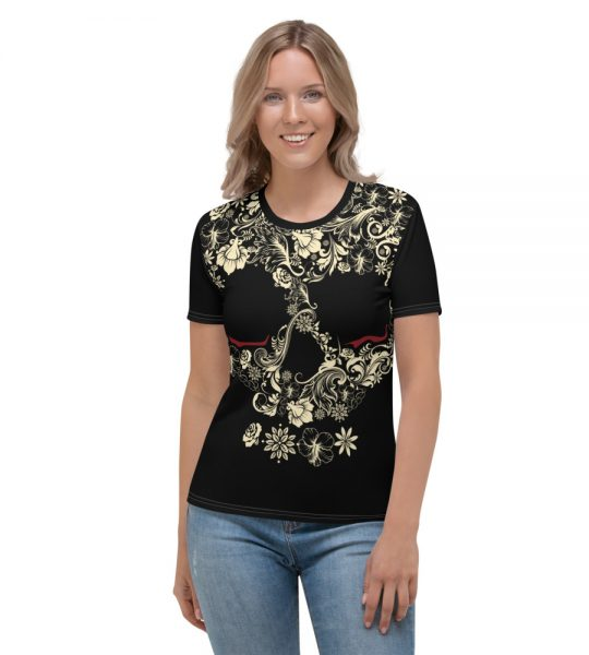 Flower skull design t-shirt