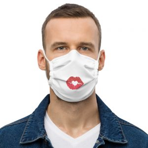 Emoji Kiss Face Mask for 2021