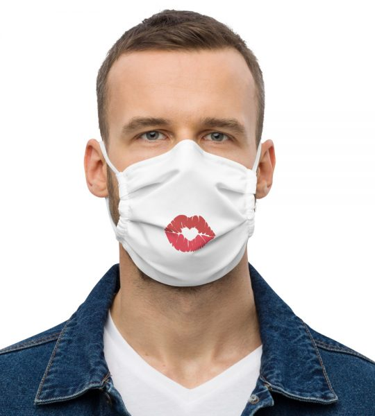 Emoji Kiss Face Mask for 2021