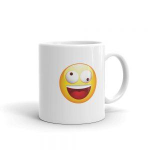Level Up Silly Emoji Face Coffee Mug