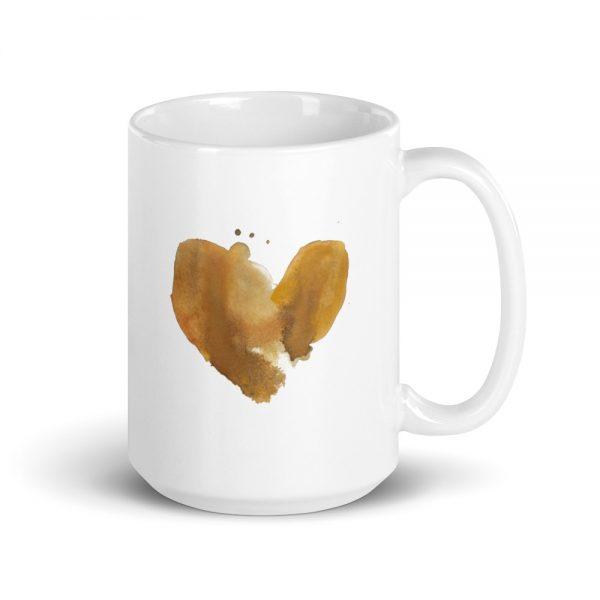 First I drink coffee. Then I do the things. Coffee heart mug